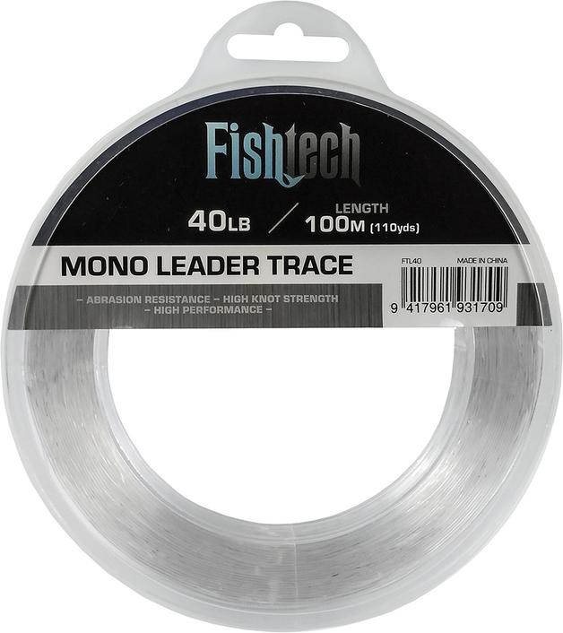 Fishtech Hi Tensile Leader 40lb 100m