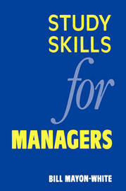 Study Skills for Managers by William M. Mayon-White image