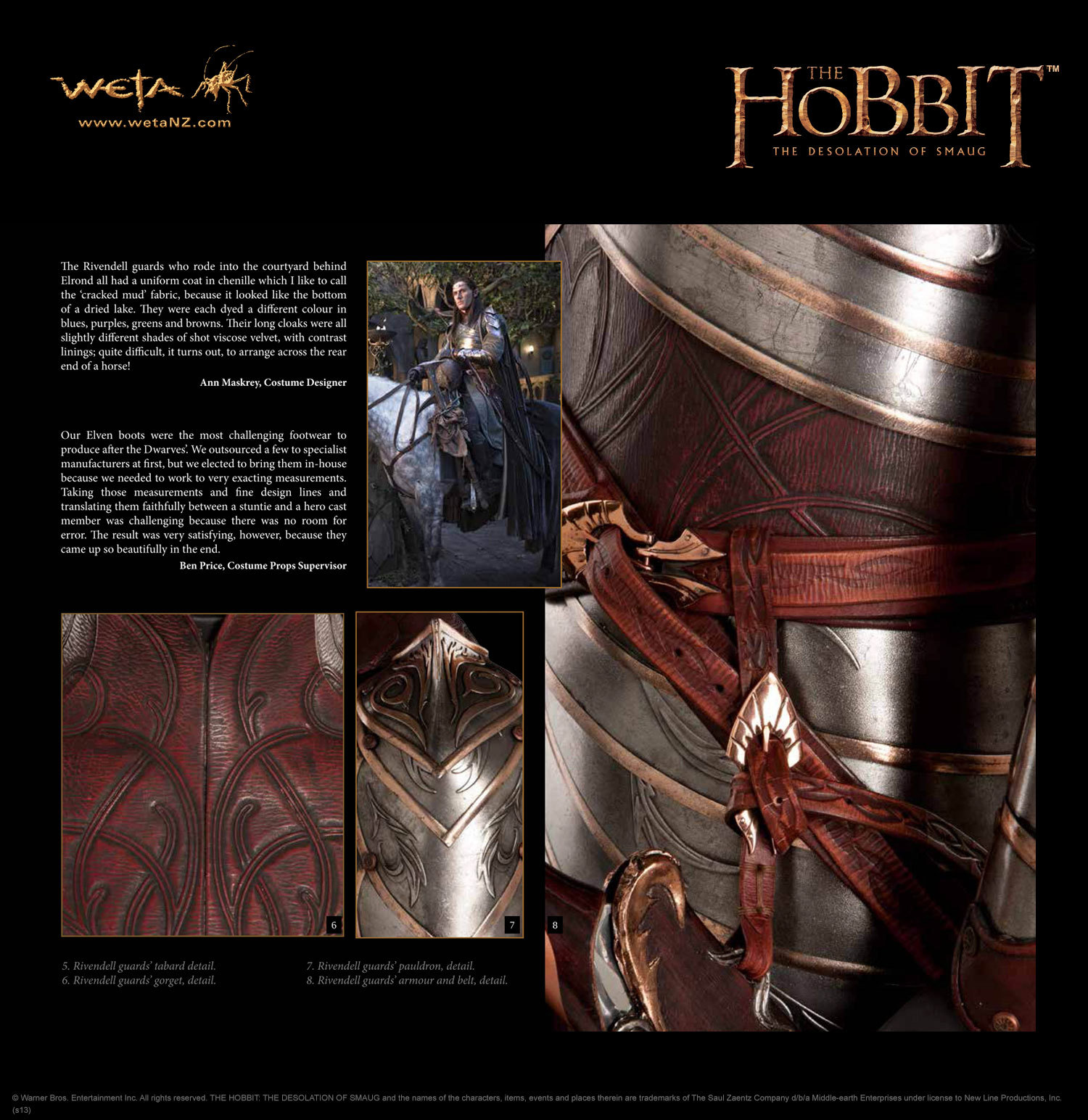 The Hobbit Desolation of Smaug Chronicles: Cloaks & Daggers by Weta image