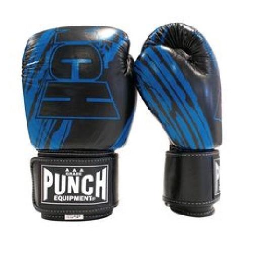Punch: Fancy Kickboxing Gloves - 16.oz (Neon Blue)