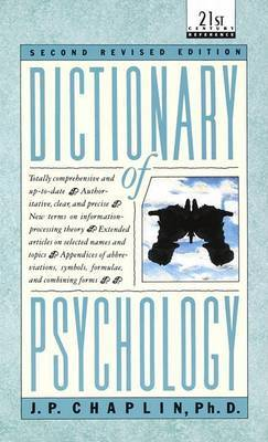Dictionary Of Psychology by J.P. Chaplin image