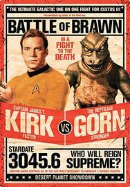 Star Trek Kirk v Gorn Tin Sign