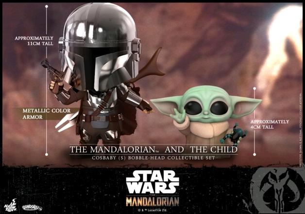 Star Wars: The Mandalorian - Mandalorian & The Child - Cosbaby Figure Set