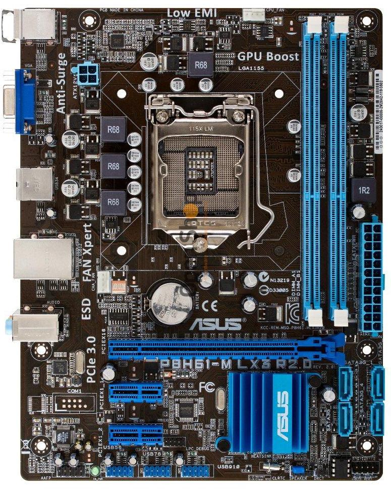 Asus P8H61-M LX3 R2 0 Intel H61 Motherboard
