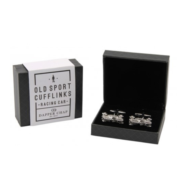 Dapper Chap Cufflinks - Racing Car