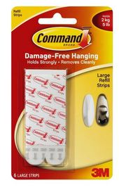 Command Large Mounting Replacement Strips (6 Pack) image