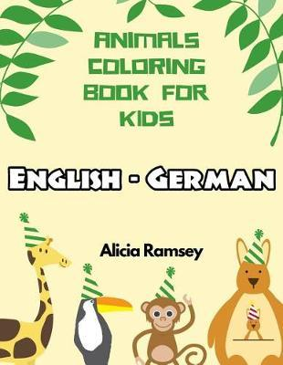 English - German Animals Coloring Book for Kids by Alicia Ramsey image
