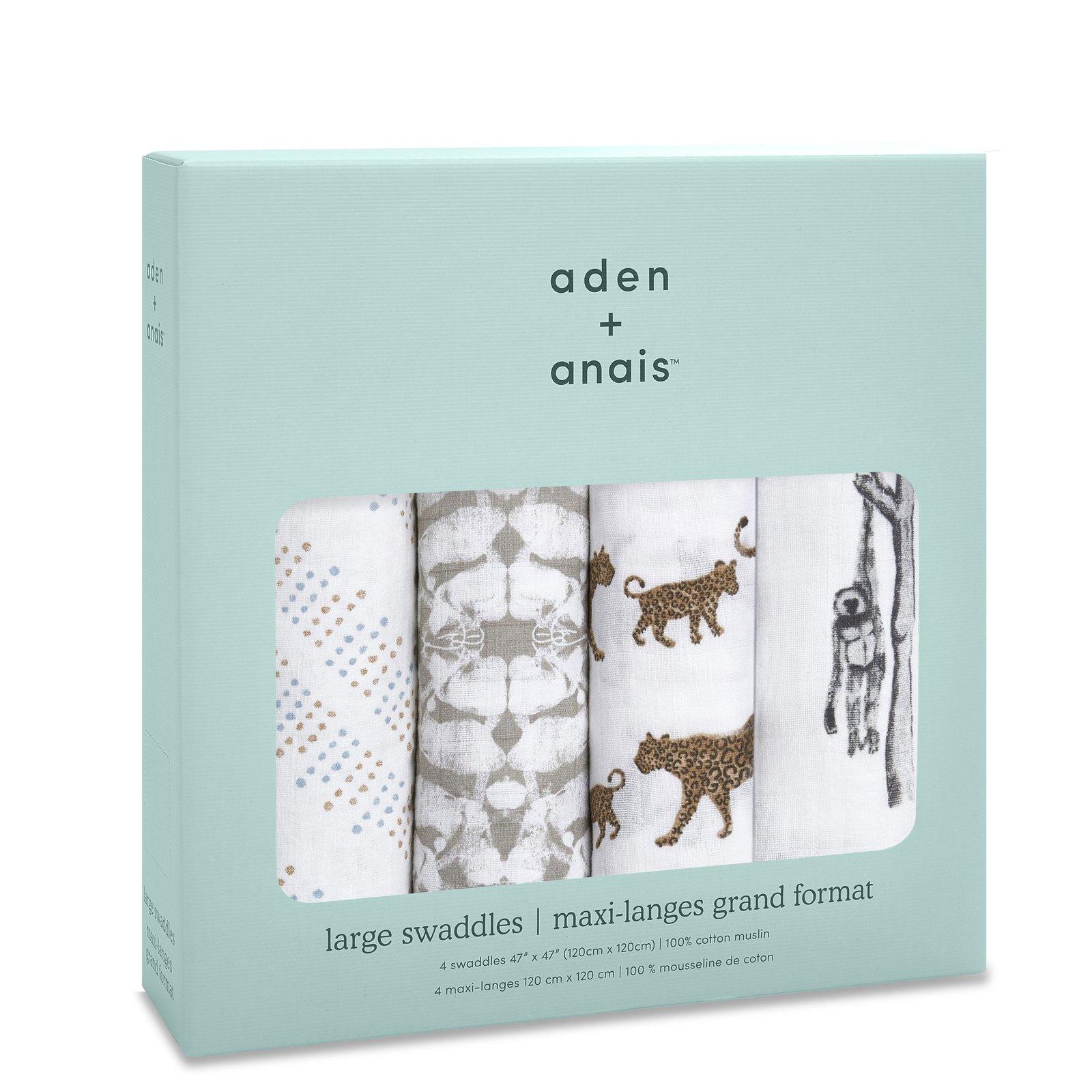 Aden + Anais: Hear Me Roar Classic Swaddles (4 Pack) image