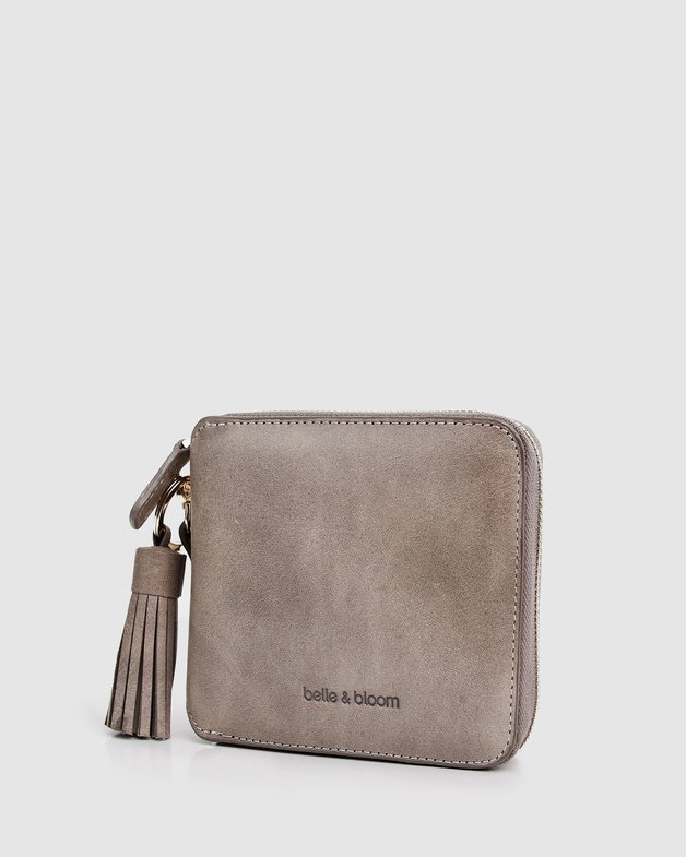 Belle and Bloom: Nora Leather Wallet - Ash