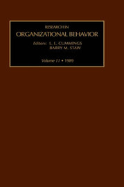 Research in Organizational Behavior: Volume 6 by Barry M Staw image