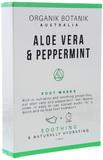 Organik Botanik Foot Mask Socks - 2 Pairs (Aloe Vera & Peppermint)