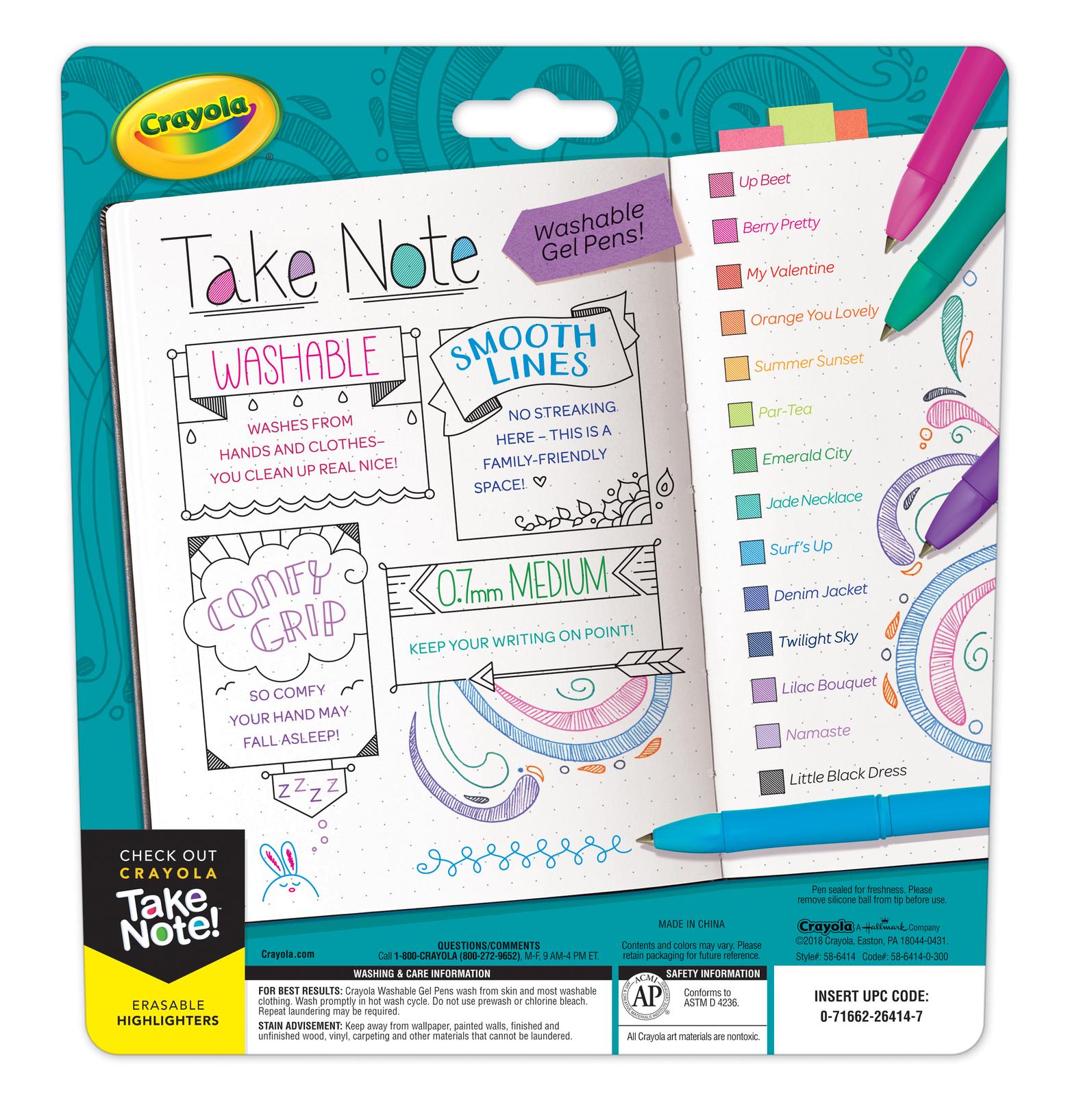 Crayola: Take Note - Washable Gel Pens image