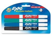 Sharpie: Dry-Erase Whiteboard Marker Set - 4pc