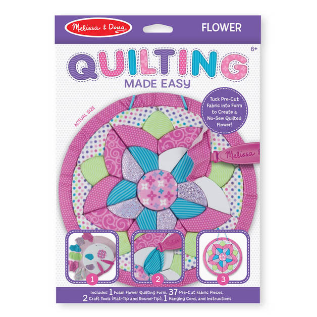 Melissa & Doug: Quilting Made Easy (Flower)