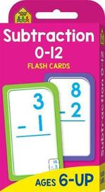 School Zone Subtraction 0-12 Flash Cards