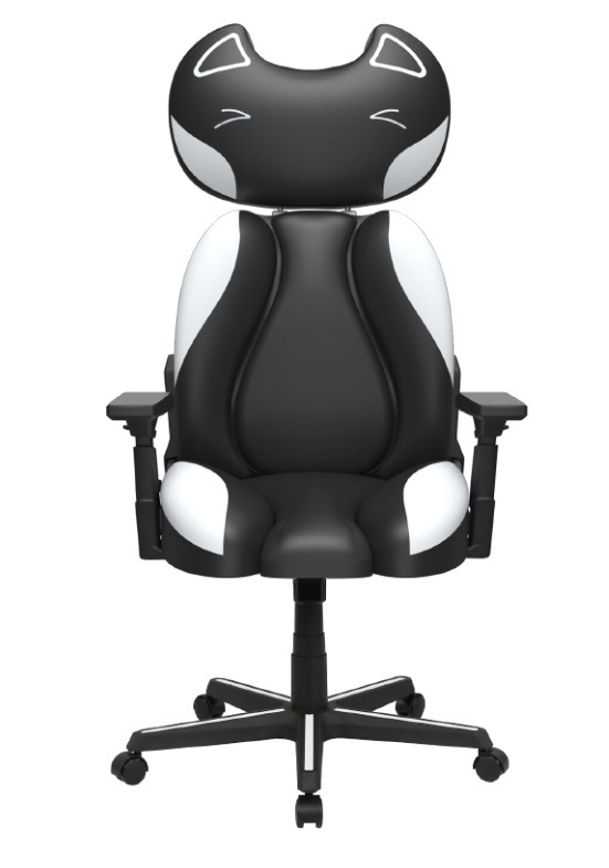 DXRacer Kitty JK001 Gaming Chair (Black) for PC