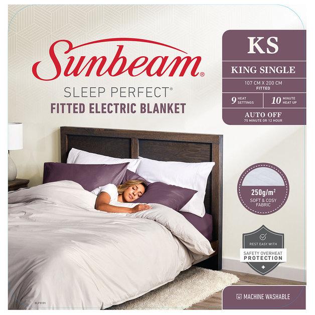 Sunbeam: Sleep Perfect King Single Fitted Heated Blanket