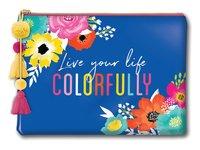 Lady Jayne Glam Cosmetic Bag - Live Colourfully (Large)