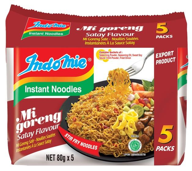 Indomie Satay Noodles 80g 5pk