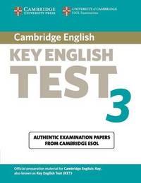 Cambridge Key English Test 3 Student's Book by Cambridge ESOL image