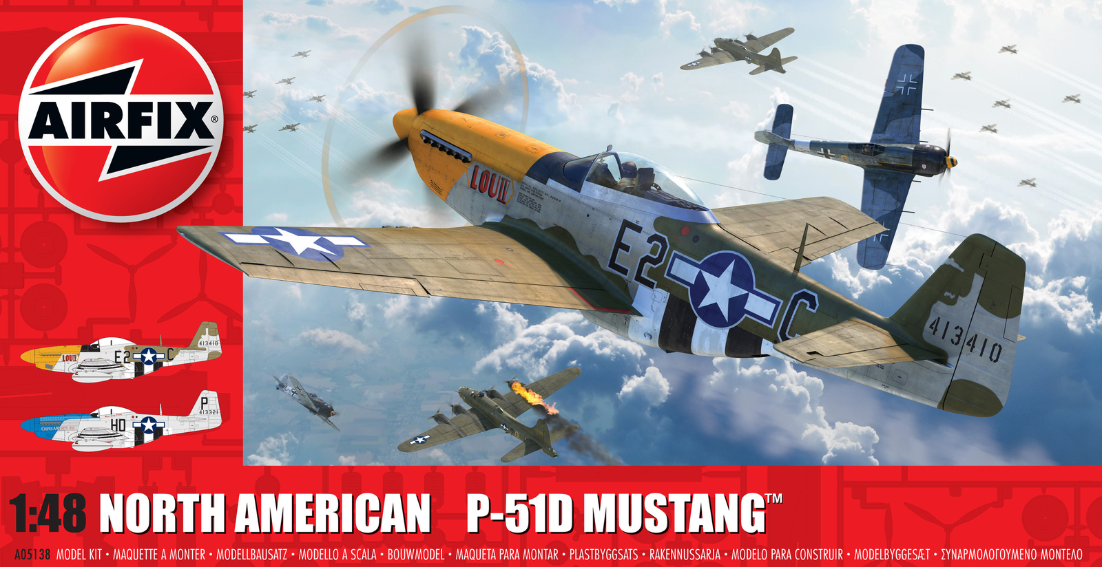 Airfix: 1:48 North American P-51D Mustang (Filletless Tails) image