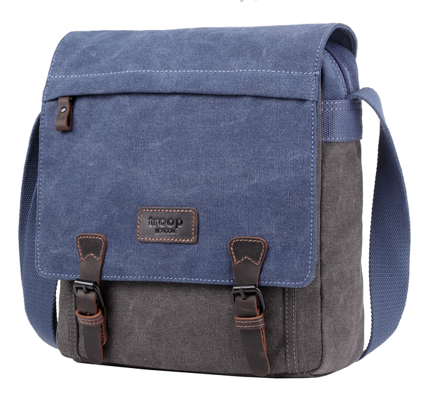 Troop London: Stockholm Satchel - Blue/Grey