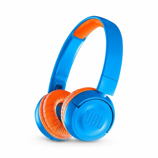 JBL JR300 Kids Bluetooth Headphones - Blue/Orange