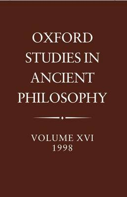 Oxford Studies in Ancient Philosophy image