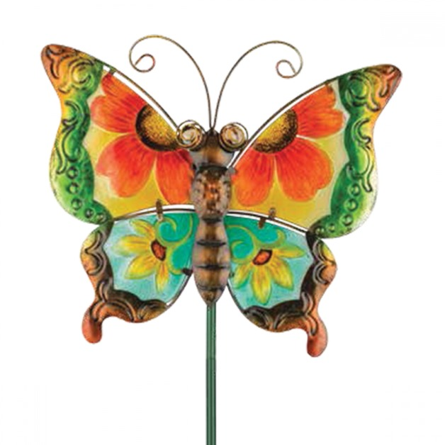 Regal: Floral Butterfly Stake - Green