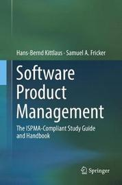 Software Product Management by Hans-Bernd Kittlaus