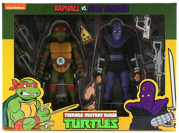 TMNT: Action Figure 2-Pack - Raphael vs Foot Soldier