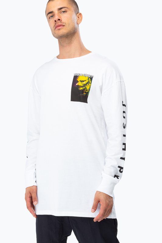 Just Hype: Mens L/S T-Shirt - Lagoon Creature M