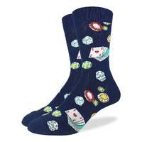 Good Luck Socks: Men's Casino Socks - Shoe Size 7-12