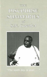 Discourse Summaries by S.N. Goenka image
