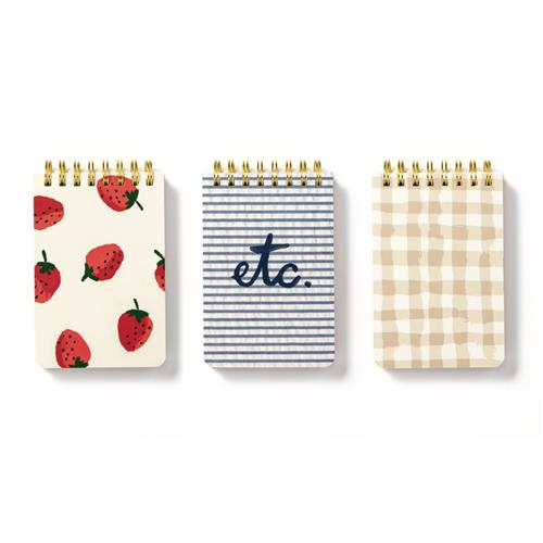 Kate Spade Spiral Notepads - Strawberry (3 Set)