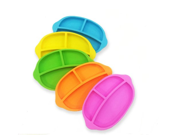 Haakaa: Silicone Divided Plate - Green