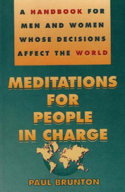 Meditations for People in Charge by Paul Brunton image