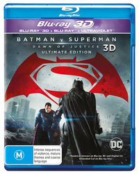 Batman v Superman: Dawn of Justice 3D on Blu-ray, 3D Blu-ray