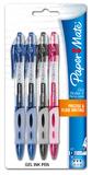 Papermate Gel Roller II Retractable Pen 0.7mm Pkt4