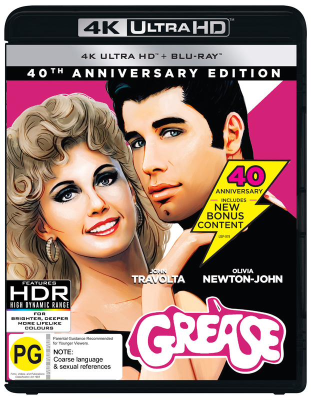 Grease - 40th Anniversary on UHD Blu-ray