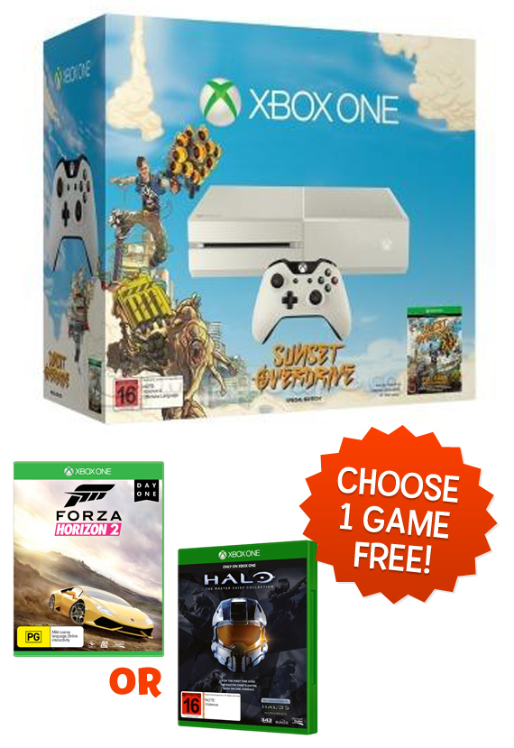 Xbox One Special Edition Sunset Overdrive Console Bundle ...