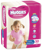 Huggies Nappies Bulk - Junior Girl 16+kg (30)
