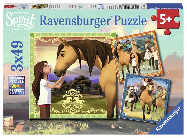 Ravensburger: 3x49 Piece Puzzle Set - Spirit: Adventure on Horses