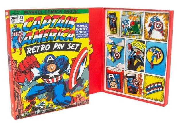 Marvel: Captain America - Retro Pin Set