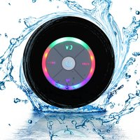 Ape Basics Waterproof Portable Shower Bluetooth Speakers - Black