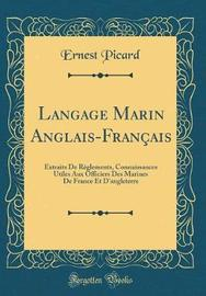 Langage Marin Anglais-Fran ais by Ernest Picard image