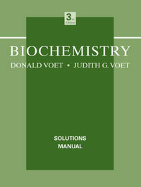 Biochemistry: Solutions Manual by Donald Voet image