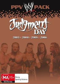 WWE - Judgment Day: PPV Pack (4 Disc Box Set) on DVD image