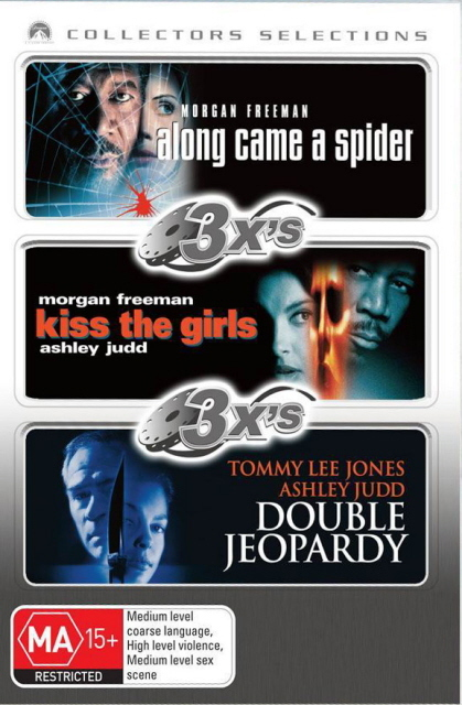 3x's - Along Came A Spider / Kiss The Girls / Double Jeopardy (1999) (Collectors Selections) (3 Disc Set) on DVD