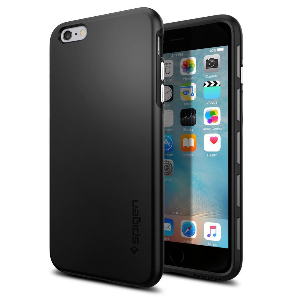 Spigen: iPhone 6s Plus - Thin Fit Hybrid Case (Black) image